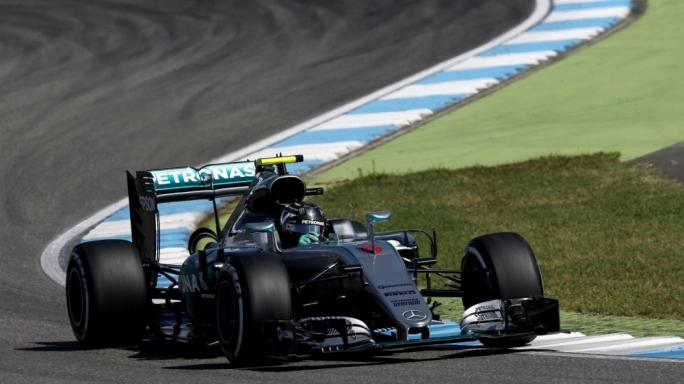 Nico Rosberg (GER) Mercedes-Benz F1 W07 Hybrid at Formula One World Championship, Rd12, German Grand Prix, Qualifying, Hockenheim, Germany