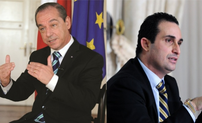 Franco Debono (right) accused the Prime Minister of having low standards of MPs.