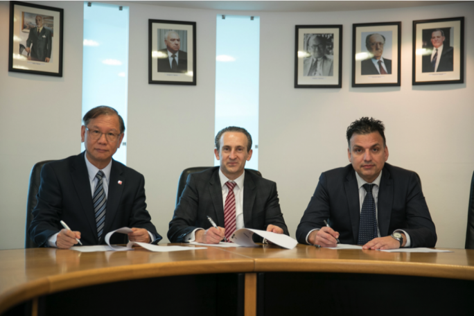 From left to right: Leo Lee - Deputy President (ACCA), Franco Azzopardi – President (MIA), David Delicata – Treasurer (MIA)