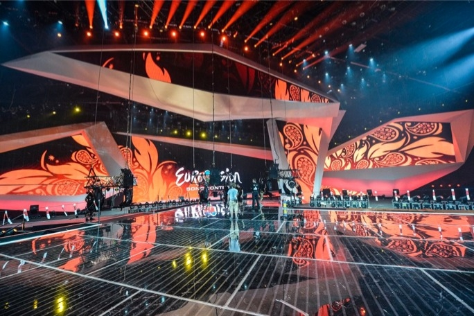 The stage is set for this week's Eurovision Song Contest in Azerbaijan. (Photo: EBU)