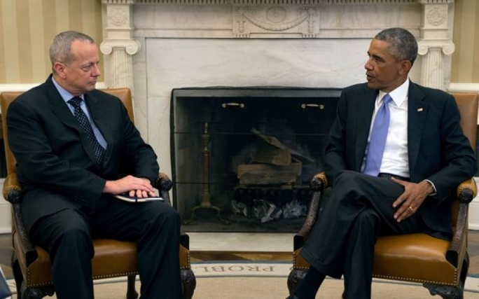 Barack Obama and General John Allen, the special presidential envoy for the global coalition against Islamic State