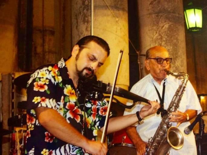 George Curmi (left) with father Joe Curmi