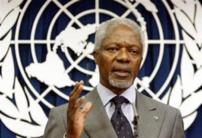 Ghanaian diplomat and former UN secretary general Kofi Annan