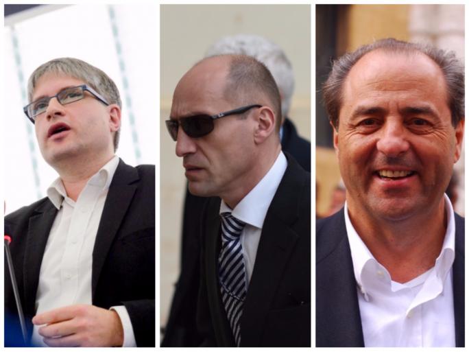 Sven Giegold, Jonathan Ferris, Antonio di Pietro