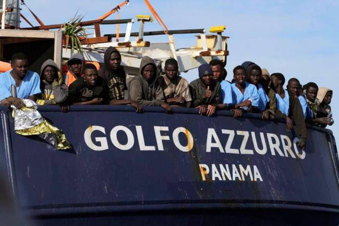 The Golfo Azzurro on a different rescue operation (Photo: Facebook/Proactiva Open Arms)