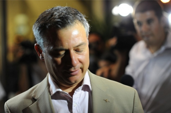 Nationalist MP Jeffrey Pullicino Orlando leaving PN headquarters at 11pm. Photo: Ray Attard/Mediatoday