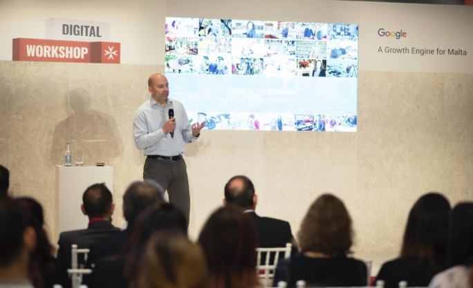 Grigoris Zarifopoulos, Country Manager Greece, Malta and Cyprus, Google launching the Digital Workshop in Malta