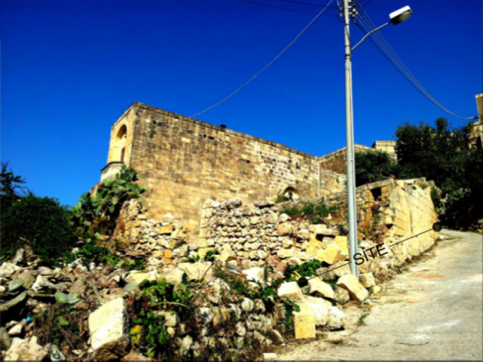 The countryside ruins which will be turned in to a terraced house thanks to a permit issued on basis of document issued by the Gozo branch of the National Archives, which was not shown to objectors