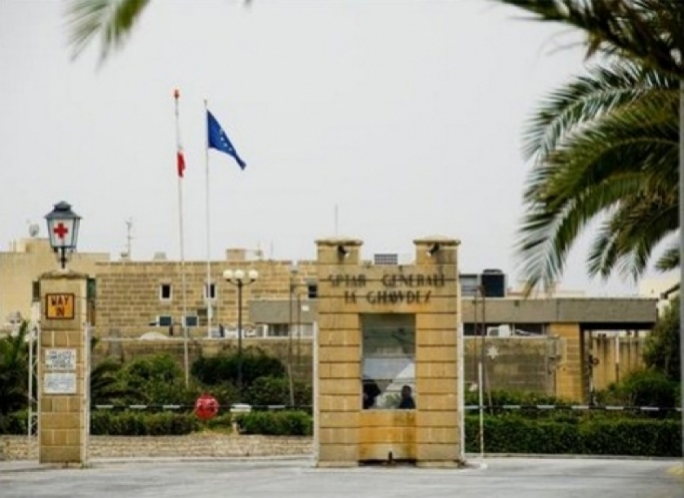 An ambulance conveyed the victim to the Gozo General Hospital for medical treatment
