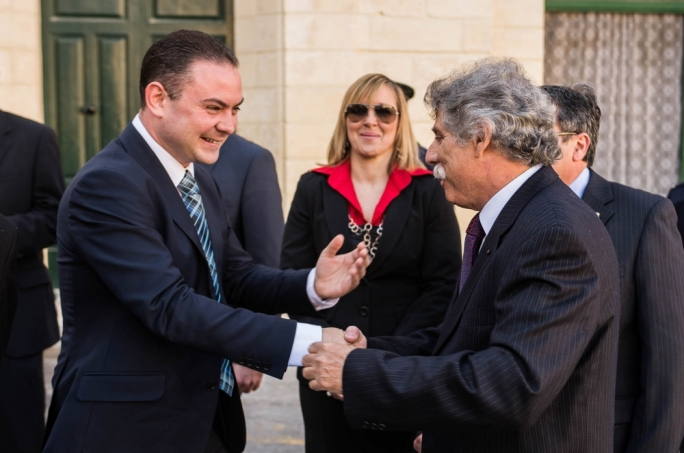 Culture Minister Owen Bonnici and Birgu Mayor John Boxall at the launch of the Great Siege events earlier today
