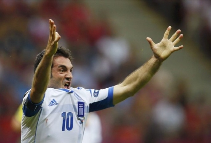 Giorgos Karagounis reacts