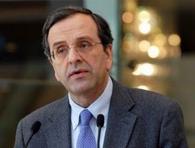 The new Greek Prime Minister, Antonis Samaras
