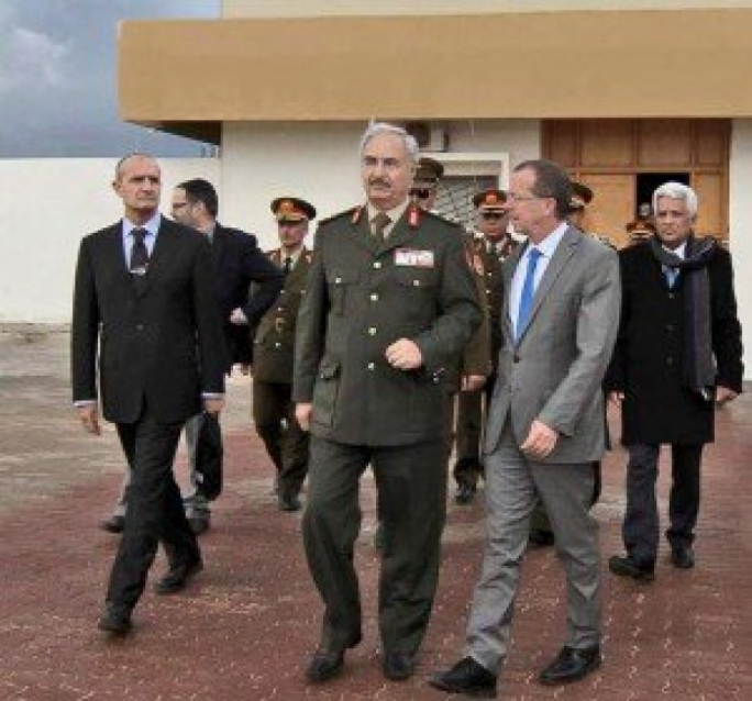 General Hafter met UN envoy Martin Kobler on Wednesday
