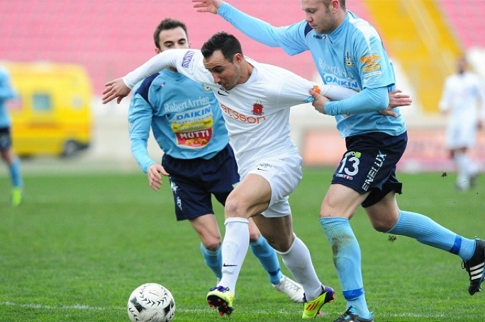 Valletta's Michael Mifsud on the attack. Photo by Ray Attard