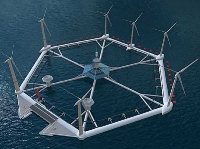 The massive offshore hexagon-shaped platform hosting 36 wind turbines, was submitted to MEPA by Hexicon AB Malta in February.