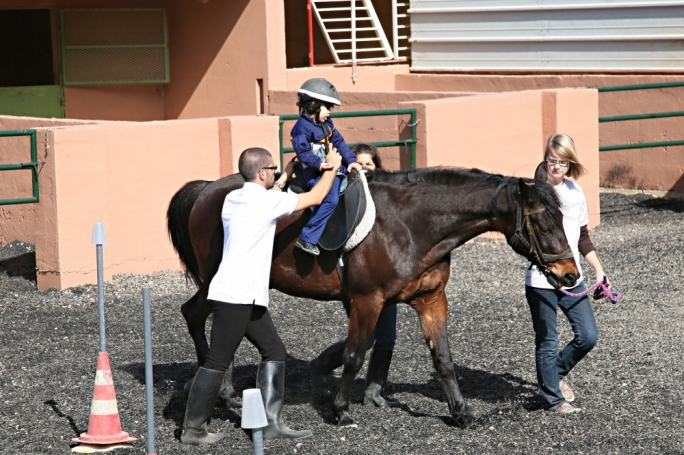 Therapeutic horseback riding provides a dynamic base of support, increasing trunk strength and control, balance, and building overall postural strength and endurance