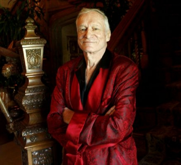 Playboy founder and editor-in-chief Hugh Hefner
