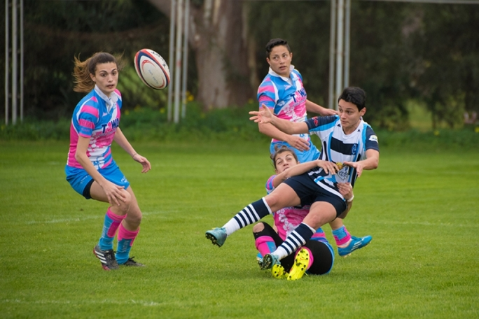 Falcons were in top form durin the Ladies Sevens Series. Photo by Ian Aquillina