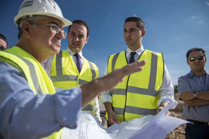 Cabinet members Ian Borg and Clifton Grima visit the site