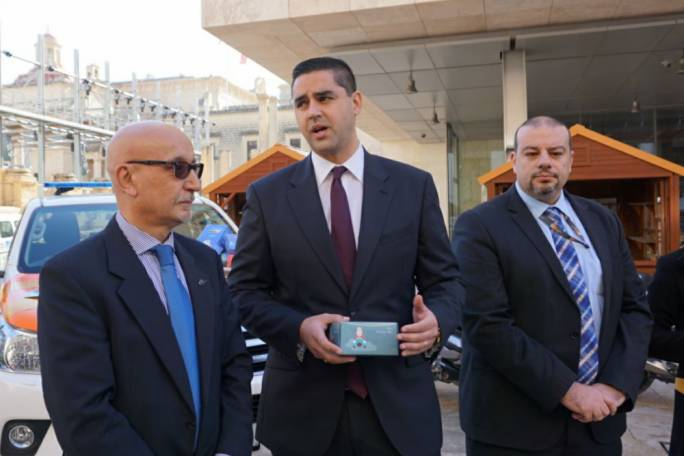 Transport minister Ian Borg launched the campaign on road safety and drink-driving in Valletta