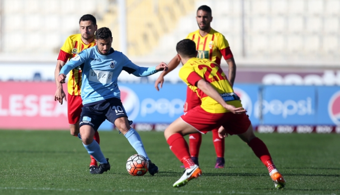 Gabriel Aquilina of Sliema Wanderers in action. Photo: Dominci Borg