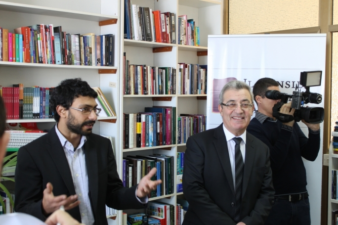 Minister Evarist Bartolo with National Book Council chairman Mark Camilleri (at left)