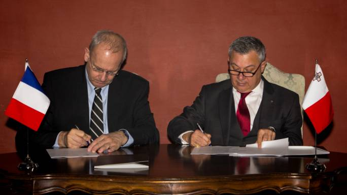 The agreement allows Maltese professionals to work with the French Space Agency to develop research on space information and satellite imagery