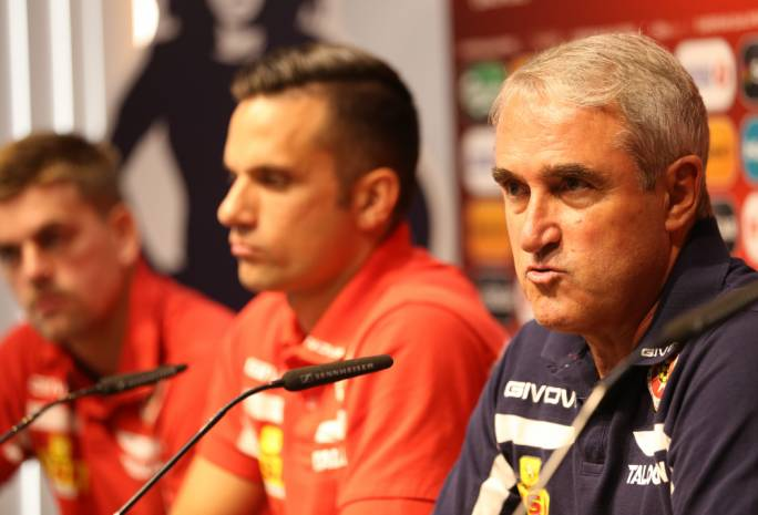 Pietro Ghedin, Andre Schembri and Sam Magri during the press conference. Photo: Christine Borg