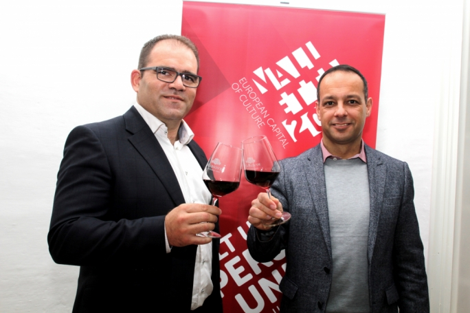 Jeremy Cassar (left) with V18 chairman Jason Micallef