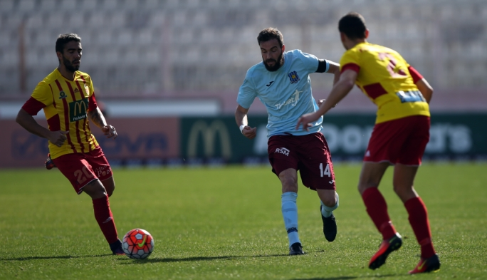 Moises Avila Perez of Gżira in action during the BOV Premier League match between Gżira and Birkirkara. Photo: Dominic Borg