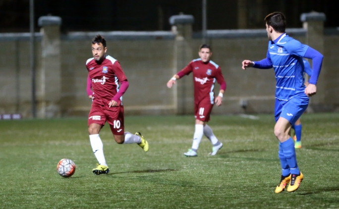 Rafael Pompeo Rodrigues Ledesma of Gżira in action during their match against Pembroke. Photo: Dominic Borg