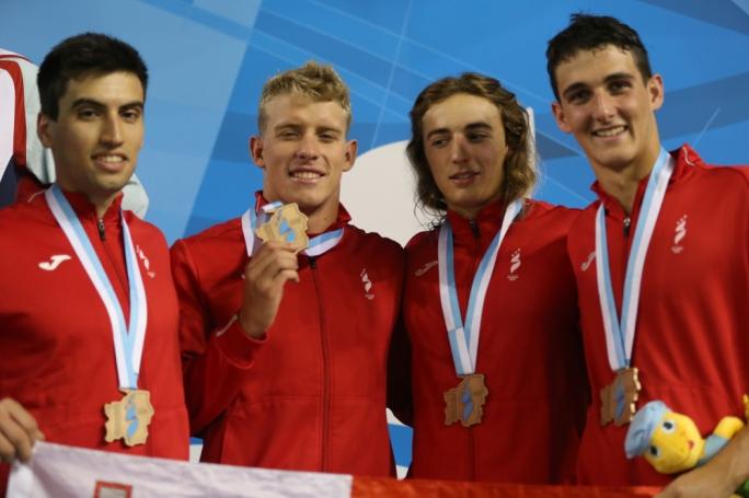 Maltese swimming medallists. Photo: Christine Borg