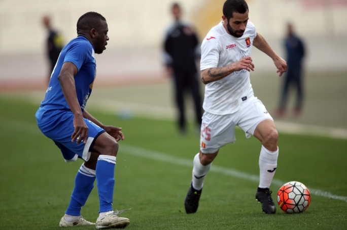 Leandro Aguirre of Valletta in action. Photo: Dominic Borg
