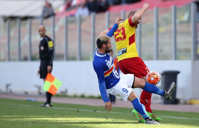 Predrag Jovic (Birkirkara) and Alex Nilsson (Tarxien) challenging each other for the ball. Photo: Christine Borg