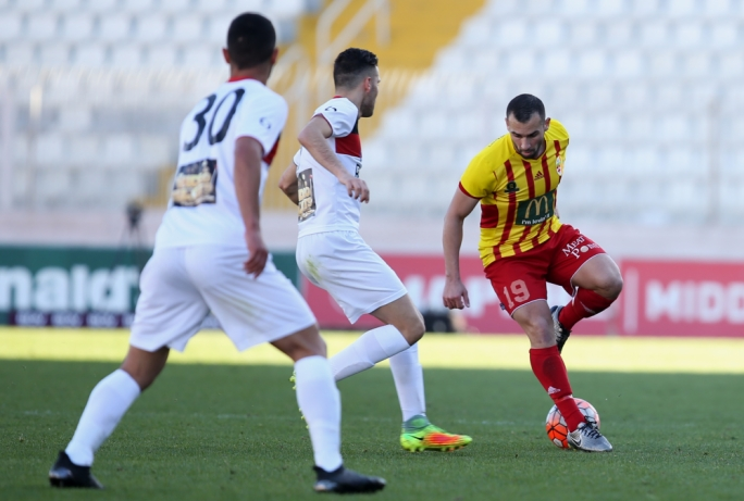 Joseph Zerafa of Birkirkara in action. Photo: Christine Borg