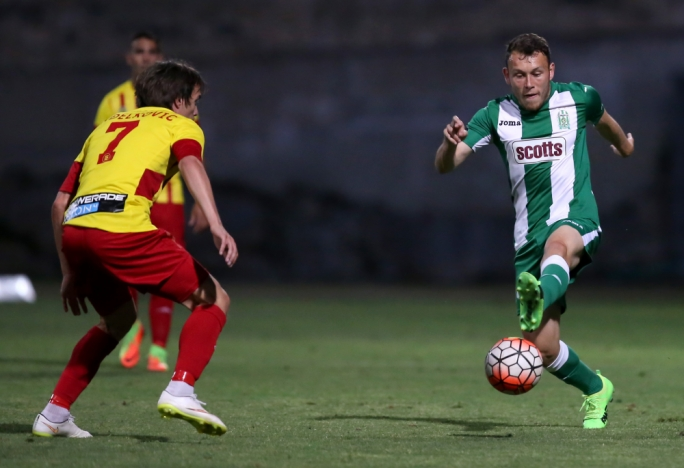 Ryan Camenzuli of Floriana in action. Photo: Christine Borg