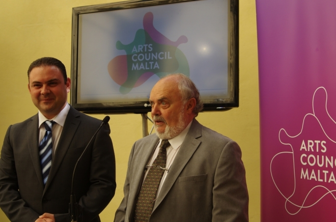 Culture Minister Owen Bonnici and Malta Council for Culture and the Arts Chairman Albert Marshall