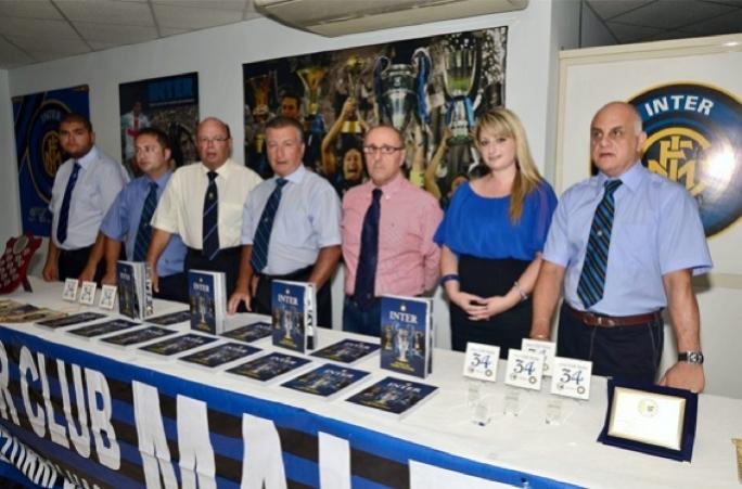 The Inter Club Malta committee during the launch of the new book INTER-STORJA TA' UNURU U SUCCESSI.