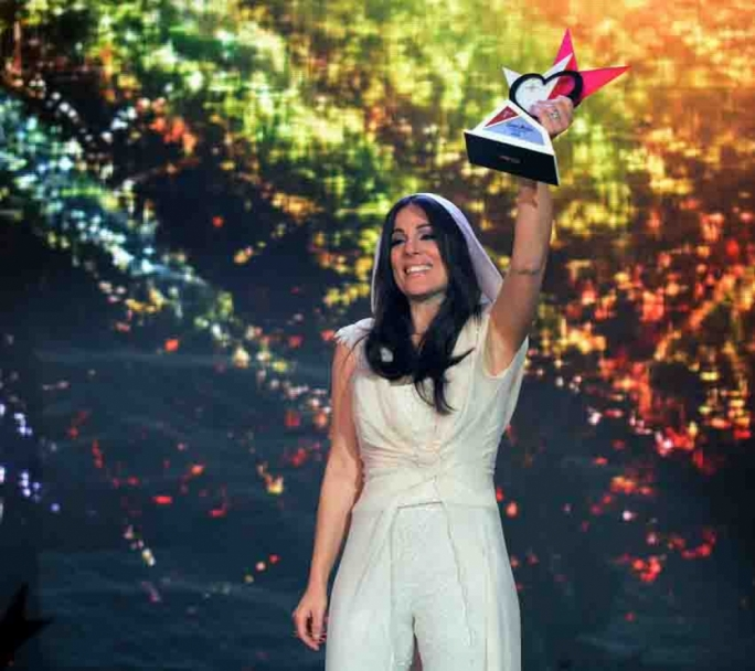 Ira Losco emerged victorious with 'Chameleon' at tonight's Malta Eurovision Song Contest • Photo by Reno Rapa