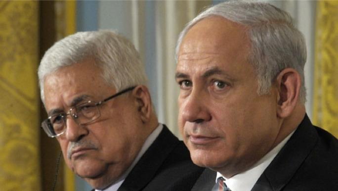 Palestinian President Mahmoud Abbas (left) and Israeli Prime Minister Benjamin Netanyahu