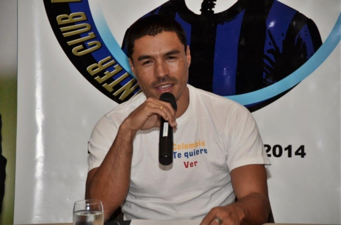 Ivan Cordoba speaks during the press conference. Photo by Charles Vassallo