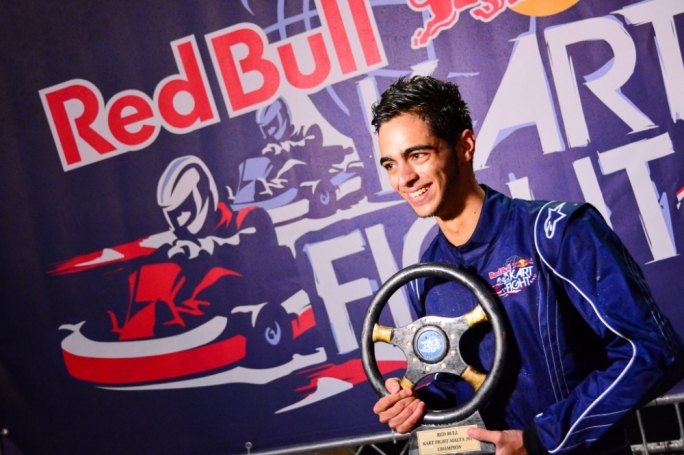 Jake Said, the 2013 Red Bull Kart Fight champion