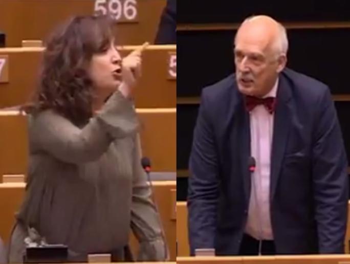 Iratxe Garcia-Perez roasts Polish MEP Janusz Korwin-Mikke who claims that women are inferior to men.