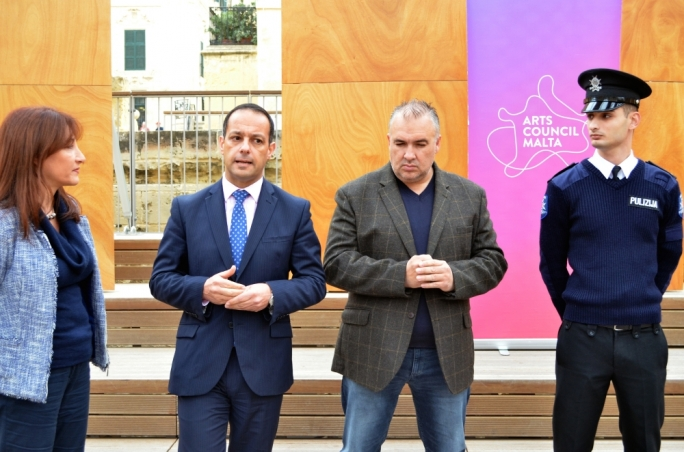 Jason Micallef (centre) said the Valletta 2018 Foundation will continue collaborating with Sean Buhagiar, who resigned after a falling out with Artistic Director Mario Philip Azzopardi