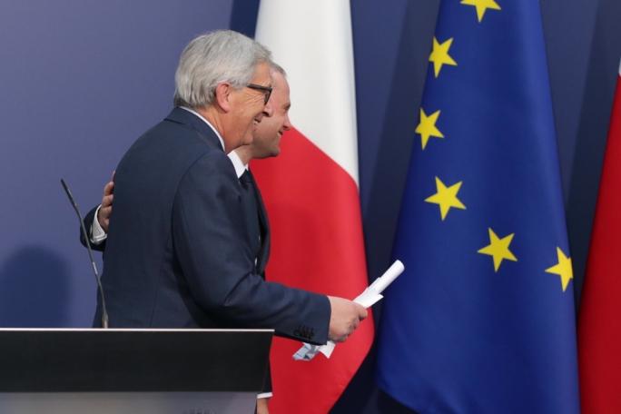 EC president Jean Claude Juncker, and Malta PM Joseph Muscat
