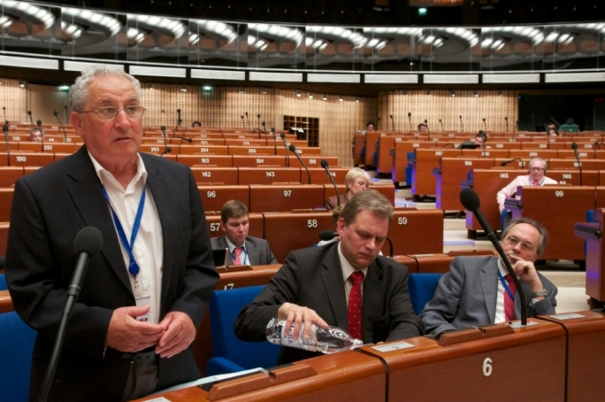 File photo: Joe Debono Grech in the Council of Europe's parliamentary assembly