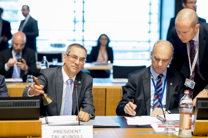 Energy Minister Joe Mizzi in Luxembourg, as the chair of the Energy Council (Photo: EU2017MT)