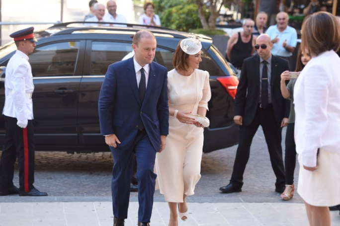 Prime Minister Joseph Muscat and his wife Michelle