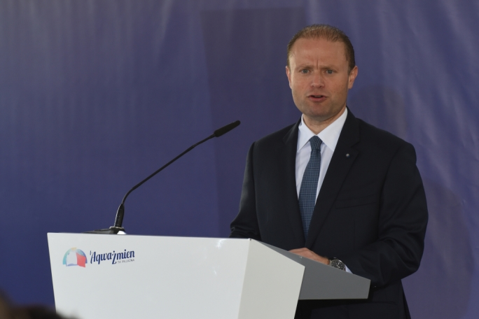 Labour leader Joseph Muscat addresses press conference (Photo: Chris Mangion/MediaToday)