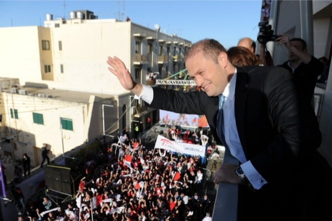 While Joseph Muscat now trusted by 23.4% of switchers – which could be a major part of the 36,000 vote majority he obtained in 2013 – the majority of switchers in the latest survey (41.2%) trust neither leader.(Photo: Ray Attard)